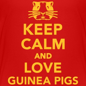 Keep calm and love guinea pigs T-Shirts - Kinder Premium T-Shirt