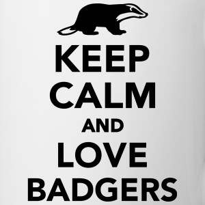 Keep calm and love badgers Tassen & Zubehör - Tasse