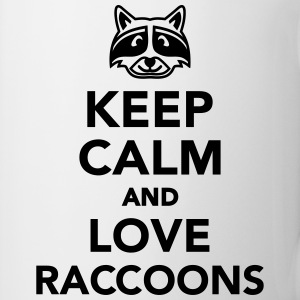 Keep calm and love raccoons Tassen & Zubehör - Tasse