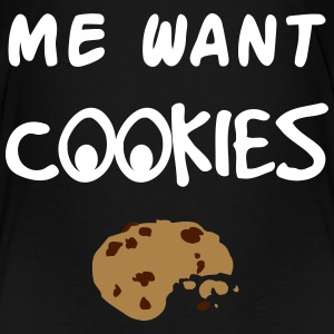 Me Want Cookies T-shirts - Premium-T-shirt barn