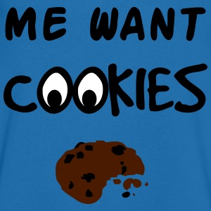 Me Want Cookies T-Shirts - Men's V-Neck T-Shirt