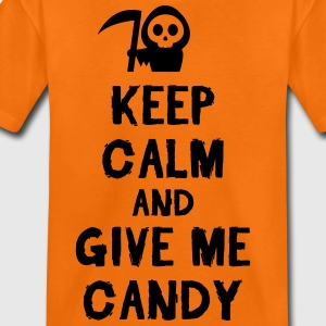 Orange Keep cam and give me candy Shirts - Teenage Premium T-Shirt