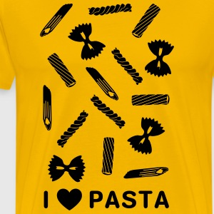 I love paste noodle types T-Shirts - Men's Premium T-Shirt