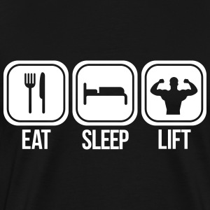 eat sleep lift T-shirts - Mannen Premium T-shirt