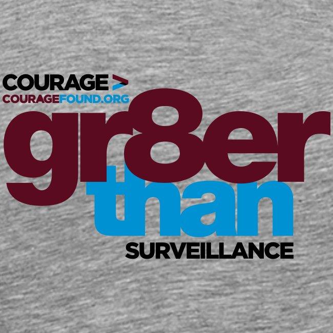 gr8er than surveillance Men's T-Shirt