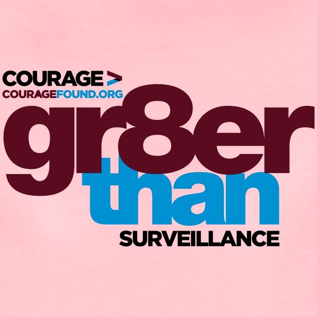 gr8er than surveillance Women's T-Shirt