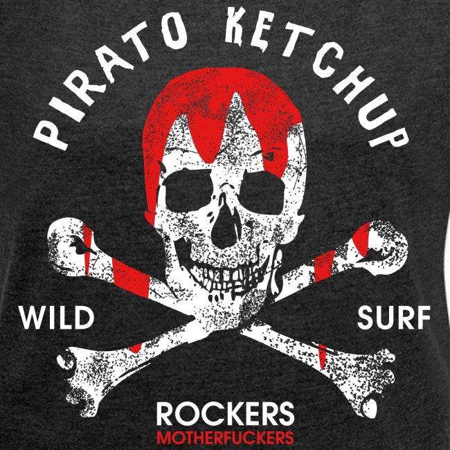 Pirato Ketchup'ed Skull (girly styled T shirt)