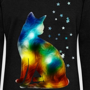 Space Cat on the Milky Way, Galaxy, Pussy, Star Sweat-shirts - Pull Femme col bateau de Bella