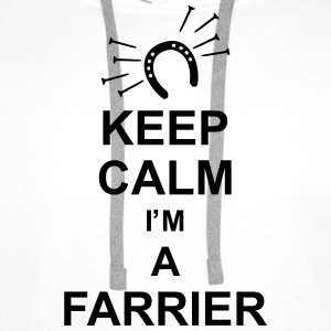 keep_calm_i'm_a_farrier_g1 Gensere - Premium hettegenser for menn