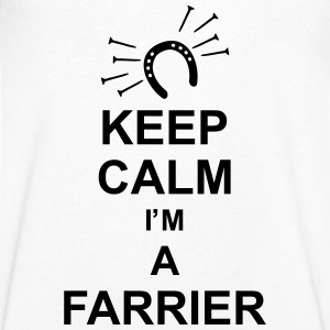 keep_calm_i'm_a_farrier_g1 T-shirts - Mannen T-shirt met V-hals