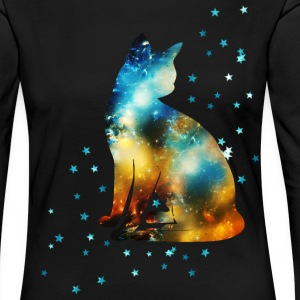 Space Pussy on the Milky Way, Galaxy, Cat, Star Long Sleeve Shirts - Women's Premium Longsleeve Shirt