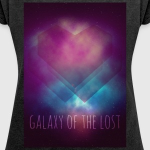 Galaxy // Galaxy of the Lost T-Shirts - Frauen T-Shirt mit gerollten Ärmeln