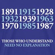 Design ~ EFC Title Dates - Royal Blue standard shirt