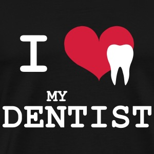 I Love my Dentist T-skjorter - Premium T-skjorte for menn