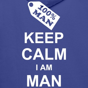 keep_calm_i_am_man_g1 Hoodies & Sweatshirts - Men's Premium Hoodie