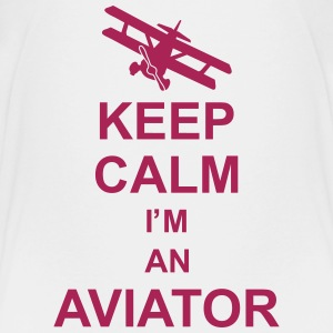 keep_calm_im_an_aviator_g1 Camisetas - Camiseta premium adolescente