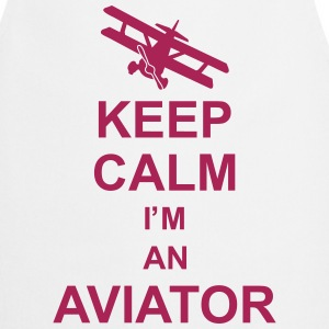 keep_calm_im_an_aviator_g1 Delantales - Delantal de cocina