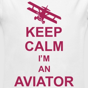 keep_calm_im_an_aviator_g1 Sweats - Body bébé bio manches longues