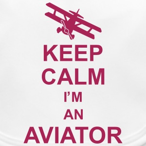 keep_calm_im_an_aviator_g1 Accessories - Baby økologisk hagesmæk