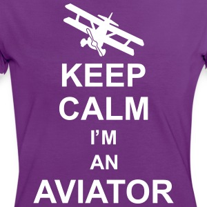 keep_calm_im_an_aviator_g1 T-Shirts - Women's Ringer T-Shirt