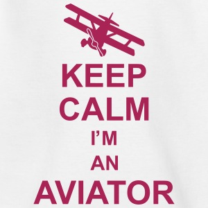 keep_calm_im_an_aviator_g1 Skjorter - T-skjorte for barn
