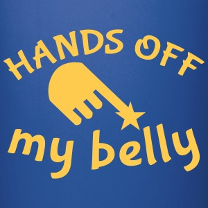 hands off my belly with pointing hand Mugs & Drinkware - Full Colour Mug