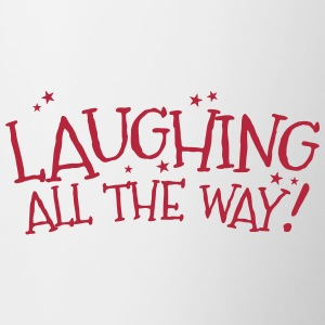 Laughing all the way! Christmas design Mugs & Drinkware - Contrasting Mug