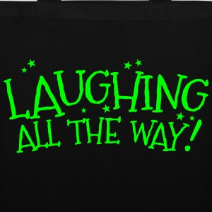 Laughing all the way! Christmas design Bags & Backpacks - Tote Bag