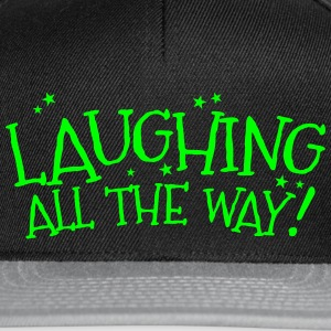 Laughing all the way! Christmas design Caps & Hats - Snapback Cap