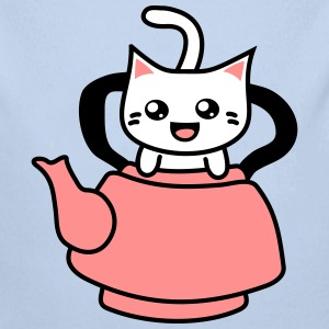 Kawaii Kitteh in Teapot Pullover & Hoodies - Baby Bio-Langarm-Body