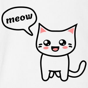 Kawaii Kitteh says meow T-Shirts - Baby Bio-Kurzarm-Body
