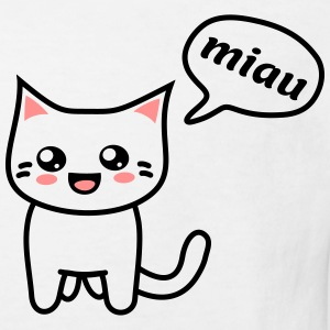 Kawaii Kitteh says miau T-Shirts - Kinder Bio-T-Shirt