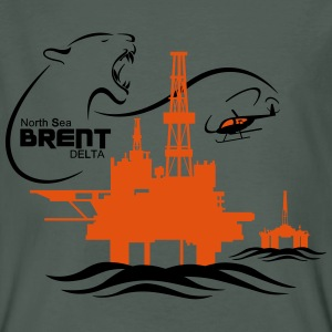 Brent Delta Oil Rig Platform North Sea Aberdeen - Men's Organic T-shirt