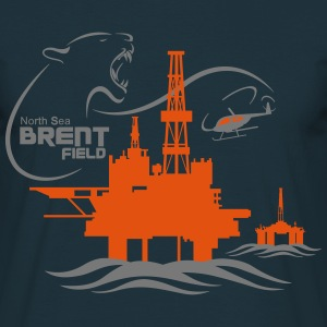 Brent Field Oil Rig Platform North Sea Aberdeen - Men's T-Shirt