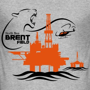 Brent Field Oil Rig Platform North Sea Aberdeen - Men's Slim Fit T-Shirt