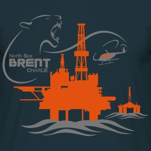 Brent Charlie Oil Rig Platform North Sea Aberdeen - Men's T-Shirt