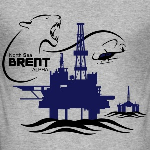 Brent Alpha Oil Rig Platform North Sea Aberdeen - Men's Slim Fit T-Shirt