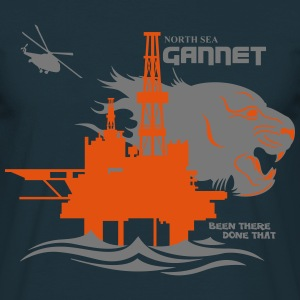 Gannet North Sea Oil Rig Platform Aberdeen - Men's T-Shirt