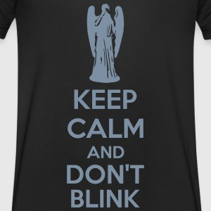 Keep Calm And Don't Blink Tee shirts - T-shirt Homme col V