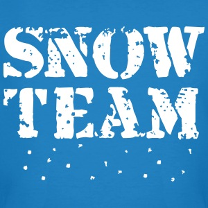 Snow Team, Winter Sports, Skiing, Snowboarding,  T-skjorter - Økologisk T-skjorte for menn