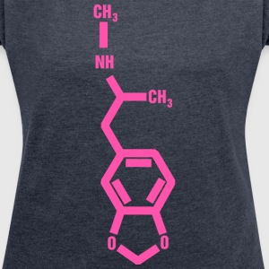 MDMA Molecule T-Shirts - Women's T-shirt with rolled up sleeves