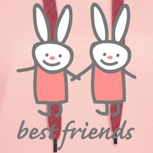 best friends Sweat-shirts - Sweat-shirt à capuche Premium pour femmes