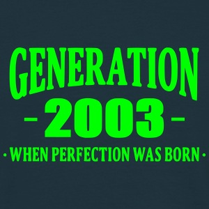 Generation 2003 T-shirts - Mannen T-shirt