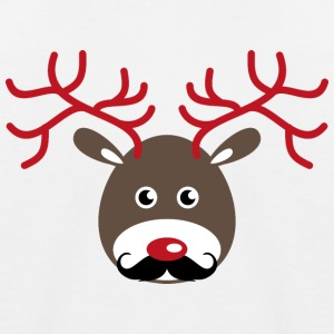 Rudolf reindeer with antlers and a beard Shirts - Kids' Baseball T-Shirt