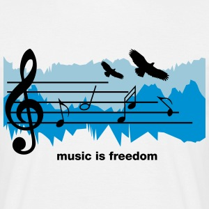 Music is freedom - Maglietta da uomo