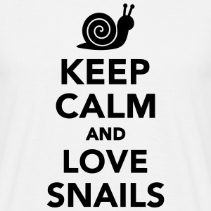 Keep calm and love snails T-Shirts - Männer T-Shirt