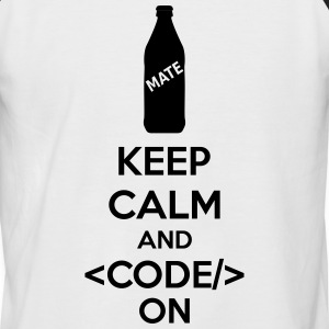 Keep Calm And Code On Tee shirts - T-shirt baseball manches courtes Homme
