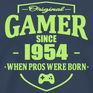Gamer Since 1954 T-skjorter - Premium T-skjorte for menn