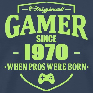 Gamer Since 1970 T-skjorter - Premium T-skjorte for menn