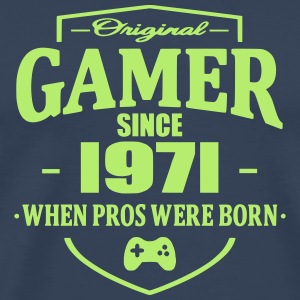Gamer Since 1971 T-shirts - Herre premium T-shirt